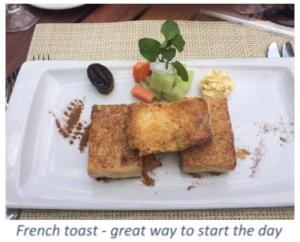 French Toast Breakfast - Casa Velas - Mexico